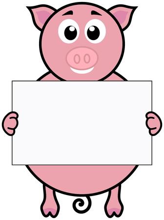 porker: a pig with a placard
