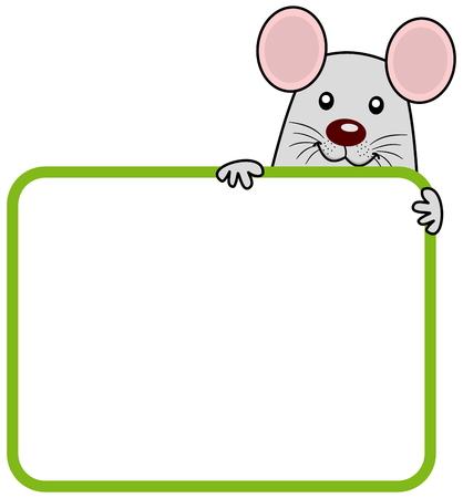 advertiser: un ratto con un cartello Vettoriali
