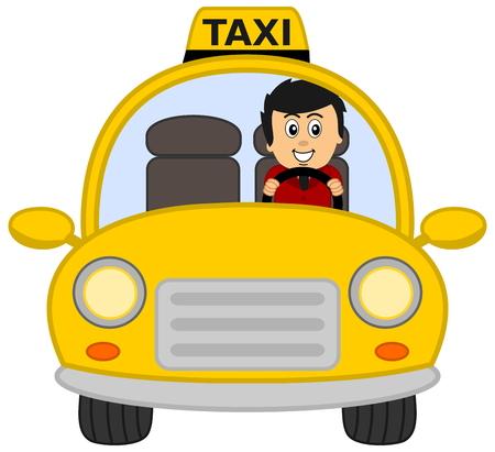 taxi driver Vettoriali