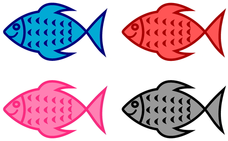 series of fish for fish shop Illustration