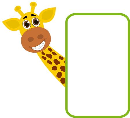 smirch: Giraffe with billboard