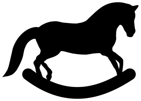 pet breeding: profile wooden horse