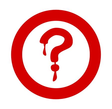 point d interrogation: point d'interrogation rouge sanglante Illustration