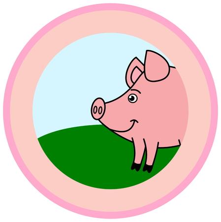 advertiser: pig illustration Illustration