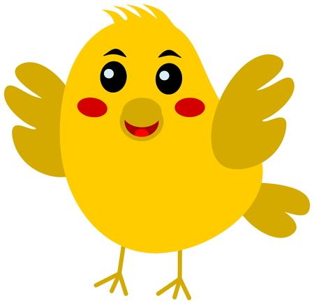 fledgeling: yellow songbird