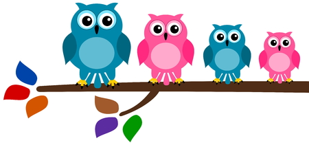fledgeling: family bird on branch