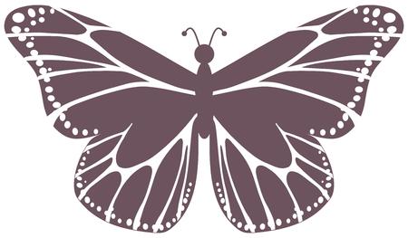 smirch: purple butterfly