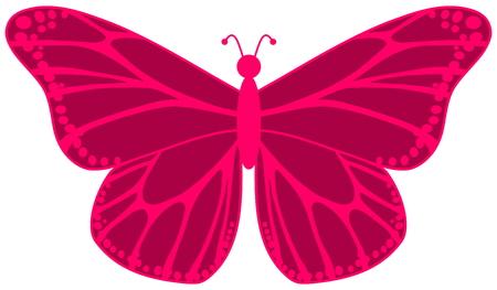 smirch: pink butterfly