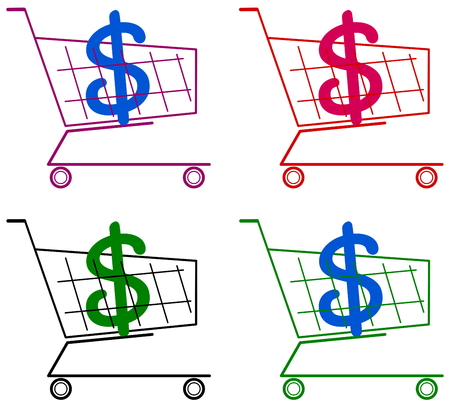 remnant: cart with dollar