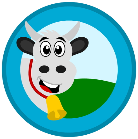 advertiser: mucca in un logo