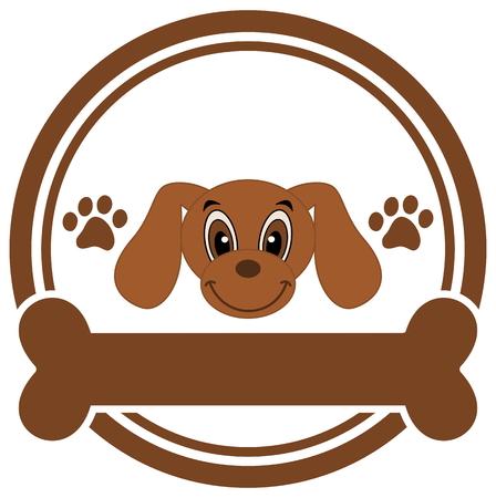 advertiser: testa di cane con un osso Vettoriali