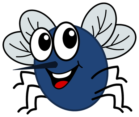 housefly: smiling fly