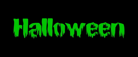 Bloody halloween green text Фото со стока - 34745770