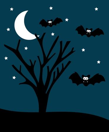 gore: Halloween illustration with bats