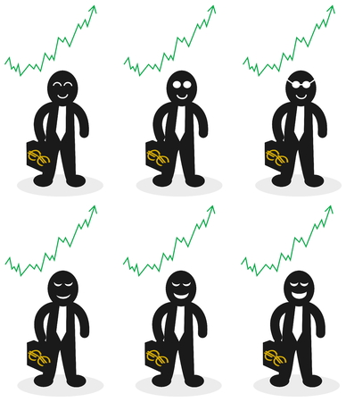 win money: trader who win money Illustration
