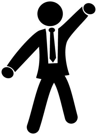 striptease: dancing businessman Illustration