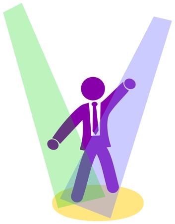 baile caricatura: hombre de negocios en una discoteca Vectores