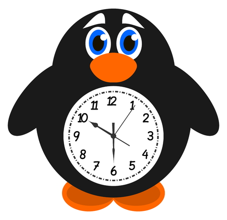 palmiped: a clock object penguin Illustration
