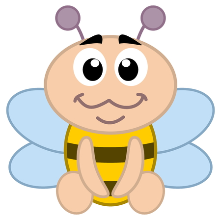 comic wasp: a bee baby sitting
