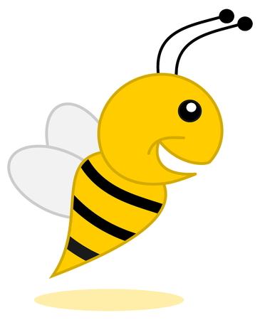comic wasp: smiling bee profile Illustration