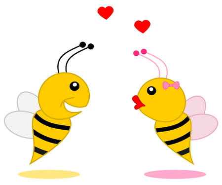 loveable: male bee that found his partner