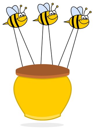 bees carrying honey