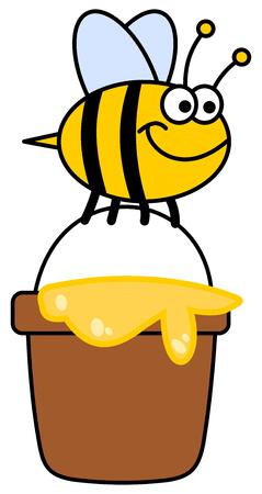 Abeja que lleva miel Foto de archivo - 36774892