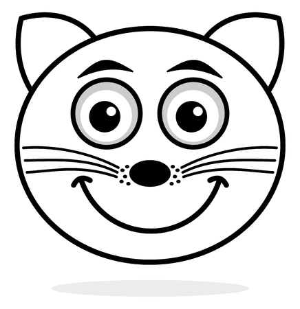 omnivores: cat face icon smile