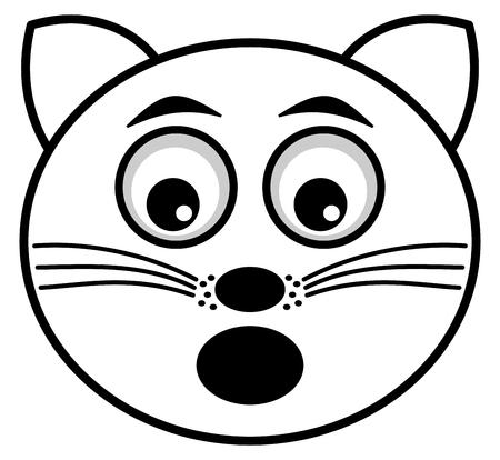 felidae: cat icon surprised face