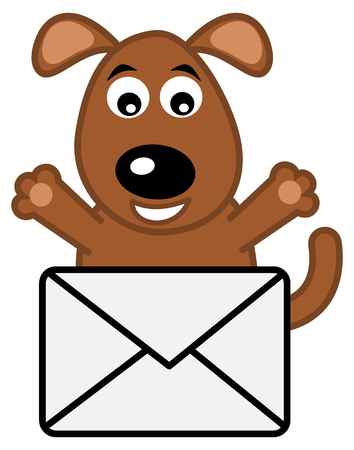 loveable: dog received a letter