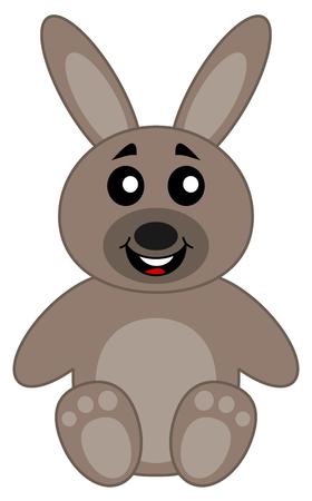 loveable: a cute plush rabbit sitting