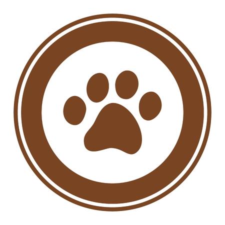 pet breeding: a pawprint logo Illustration