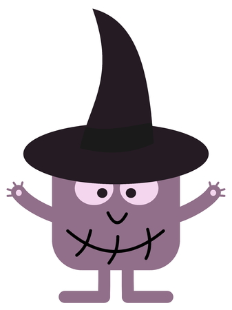 smirch: a witch with hat