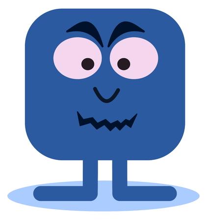 microbe: microbe bacteria or viruses in blue Illustration