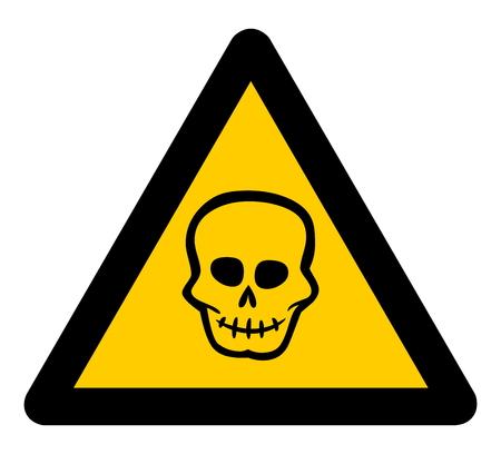 waarschuwingsbord dood Stock Illustratie