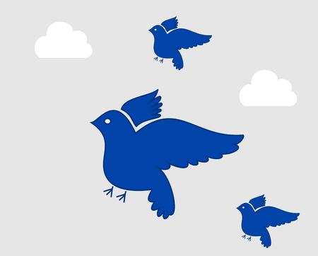 paloma volando: varios paloma volando en el cielo
