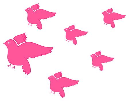 dove flying: several dove flying