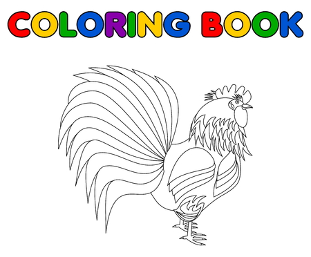 aviculture: a rooster for coloring