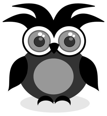 looking ahead: a black owl looking ahead
