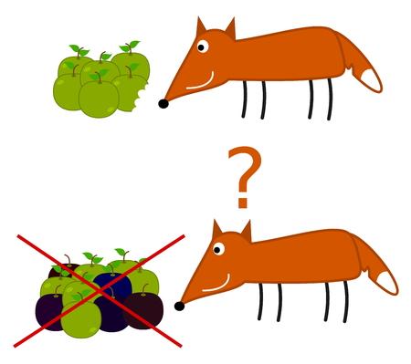 rotten: fox will eat rotten apple