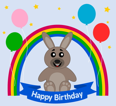 loveable: rabbit celebrating a birthday