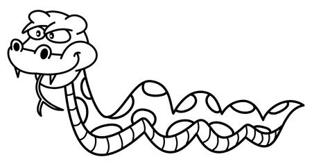 dangerous: dangerous snake for coloring