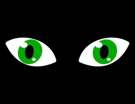 soothsayer: ojos verdes sobre un fondo negro