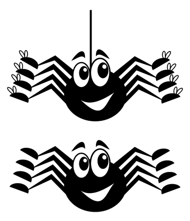 loveable: spider with a cheerful shoes