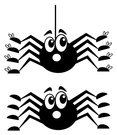 loveable: a surprised spider with shoes