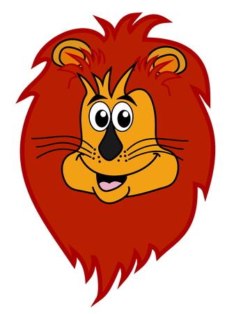 felidae: lion head smiling