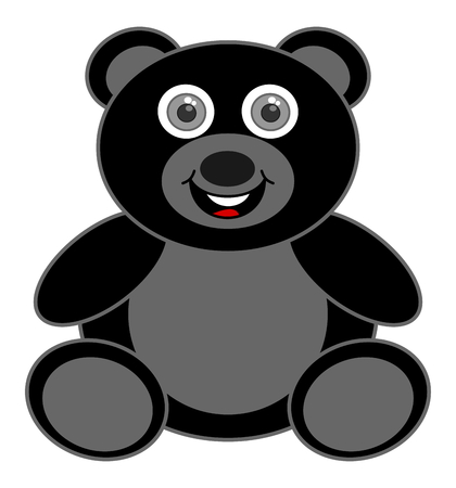 loveable: a happy black bear cub Illustration