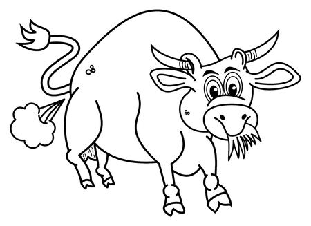 eats: a bio bull for coloring that eats grass