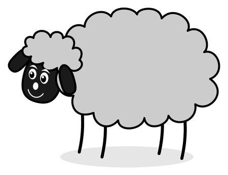 wooly: a grey sheep