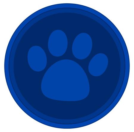 blue button: cat dog paw blue button